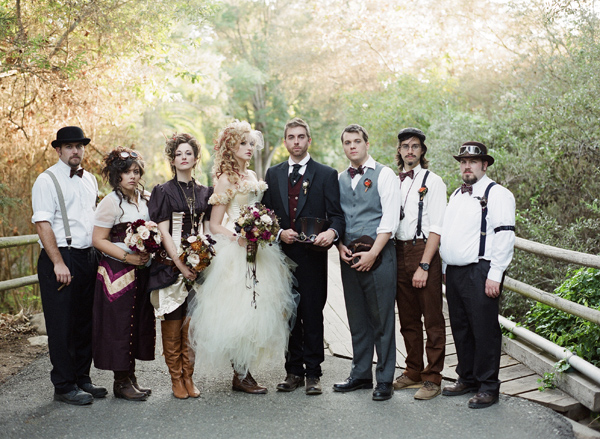 steampunk style wedding