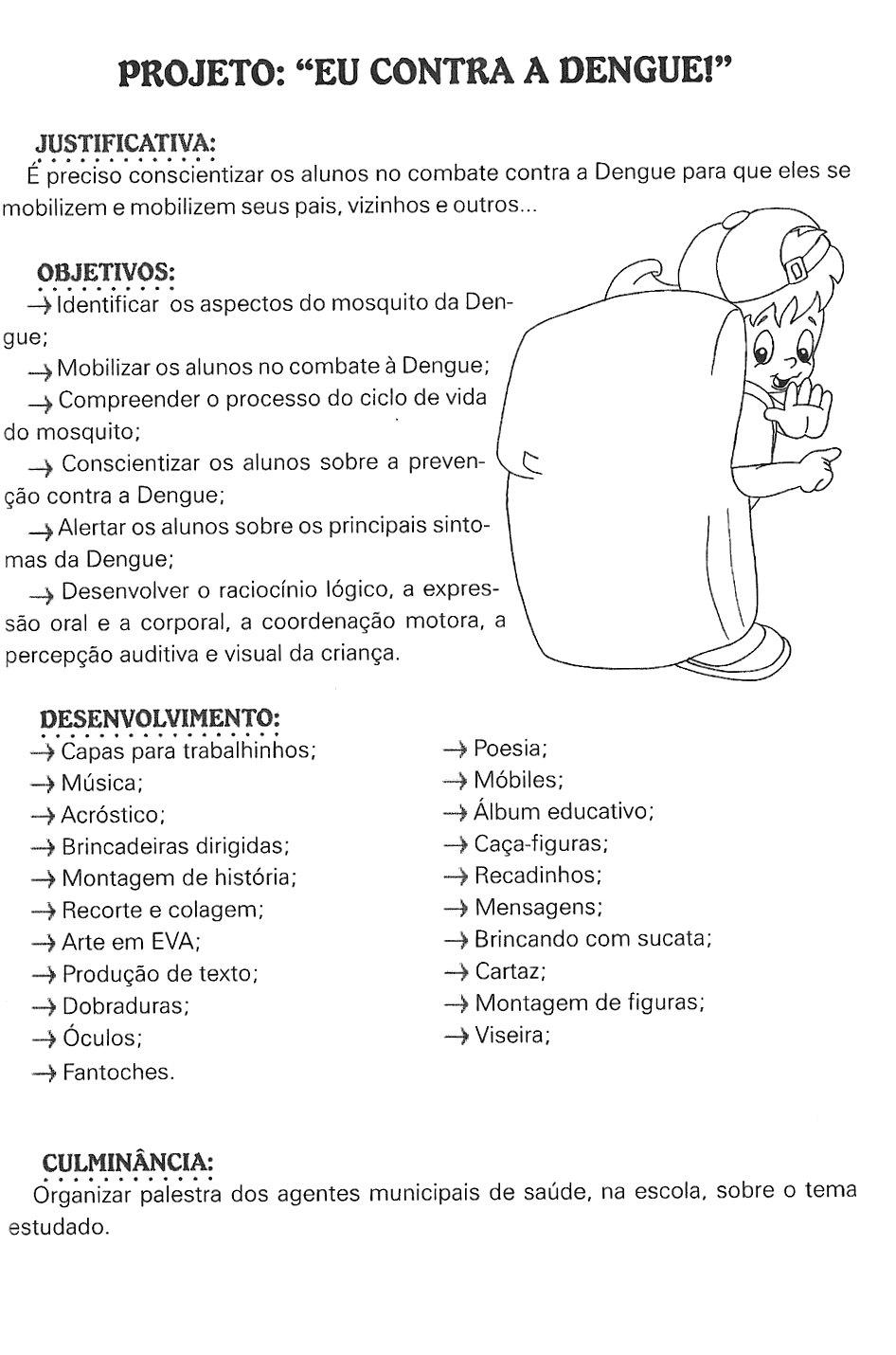Populares ESPAÇO EDUCAR: Atividades sobre Dengue PT39