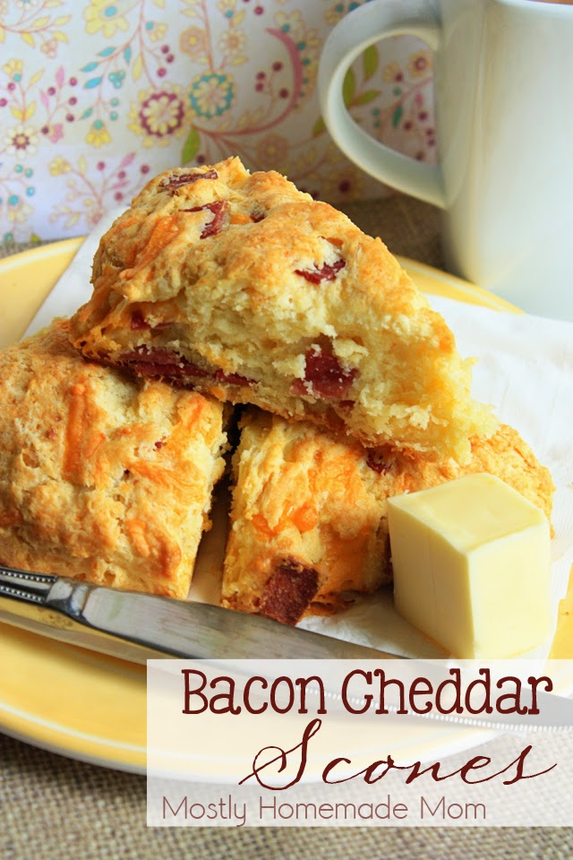 Bacon Cheddar Scones | Mostly Homemade Mom