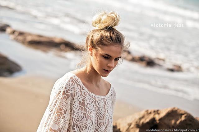 Ropa de moda primavera verano 2016 Victoria Jess. Tendencia encajes.