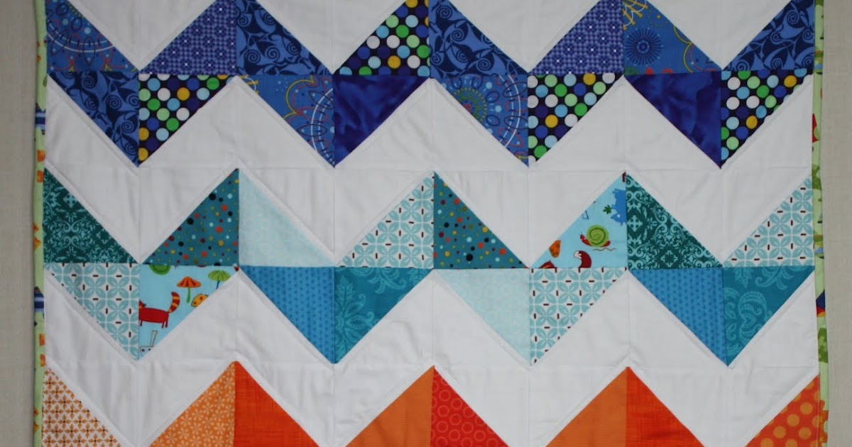 Bags From The Heart: Little Chevron Zig Zag Quilt