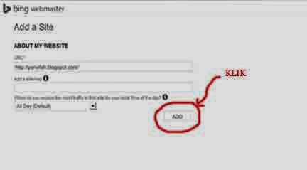 Tips dan Trik, Submit Url Blog di Bing Webmaster 3