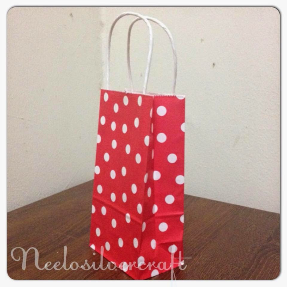 Item Red Polkadot Paperbag With Handle