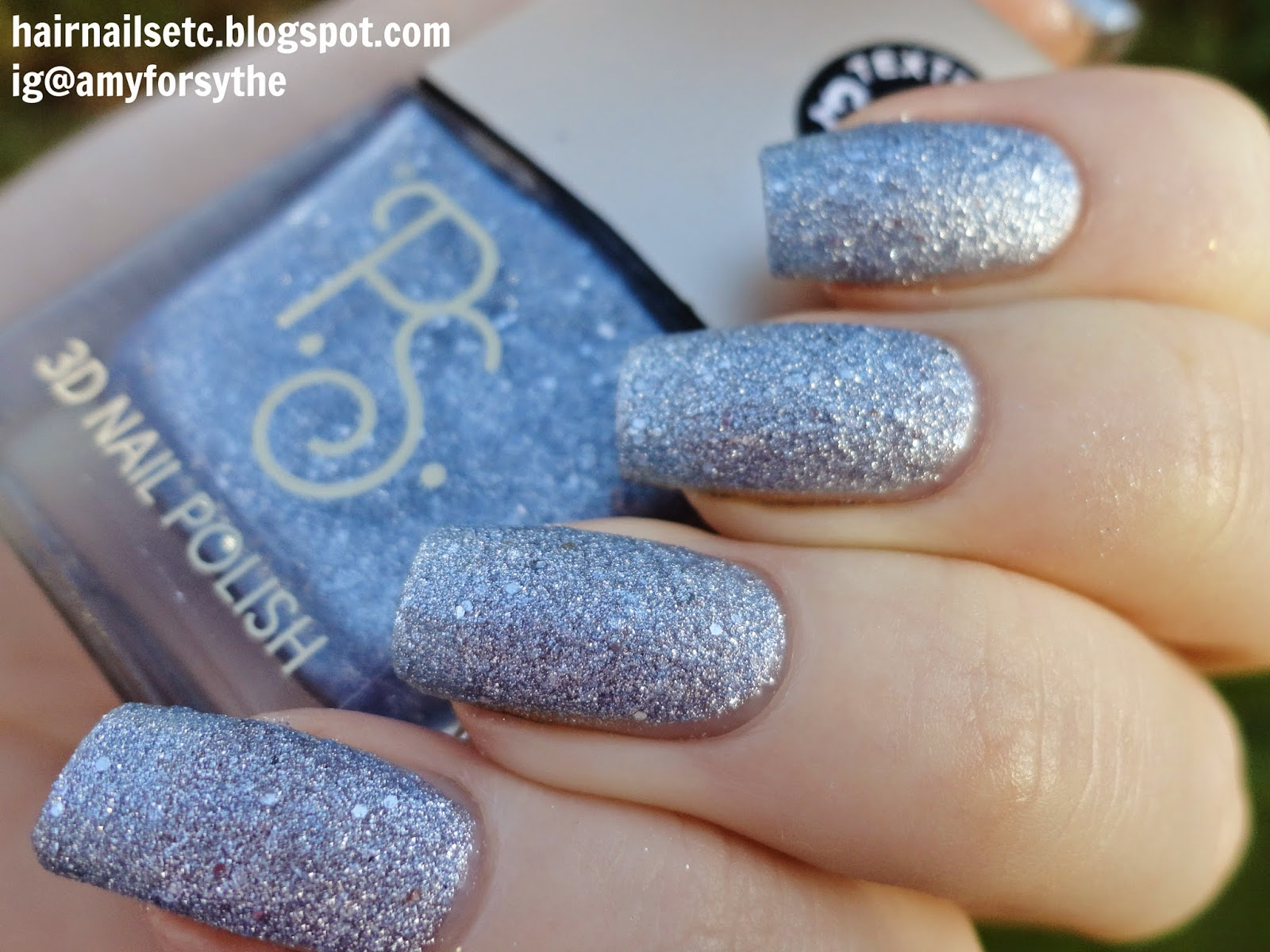 Primark PS 3D Texture Nail Polishes Swatches and Review Silver Blue