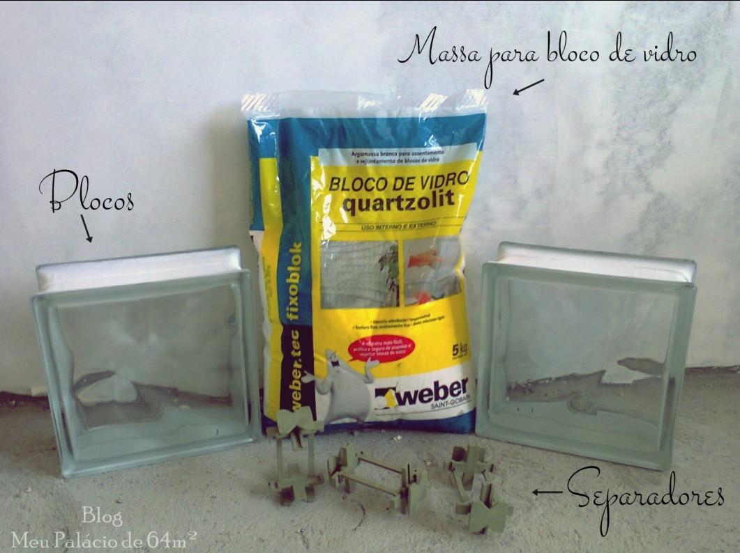 Para quem não viu a compra dos blocos de vidro ou tijolos de vidro  #AE9A1D 1061x794 Banheiro Com Tijolo De Vidro No Box