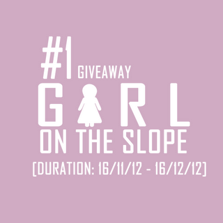 1ST MEGA-GIVEAWAY BY GIRL ON THE SLOPE