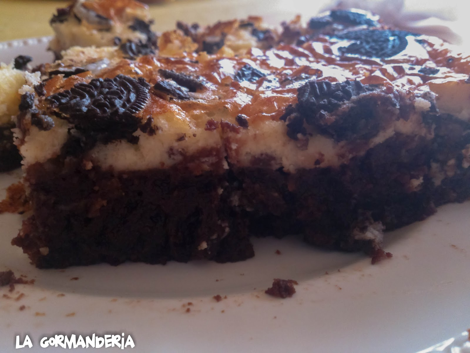 Brownie Cheesecake de Oreos