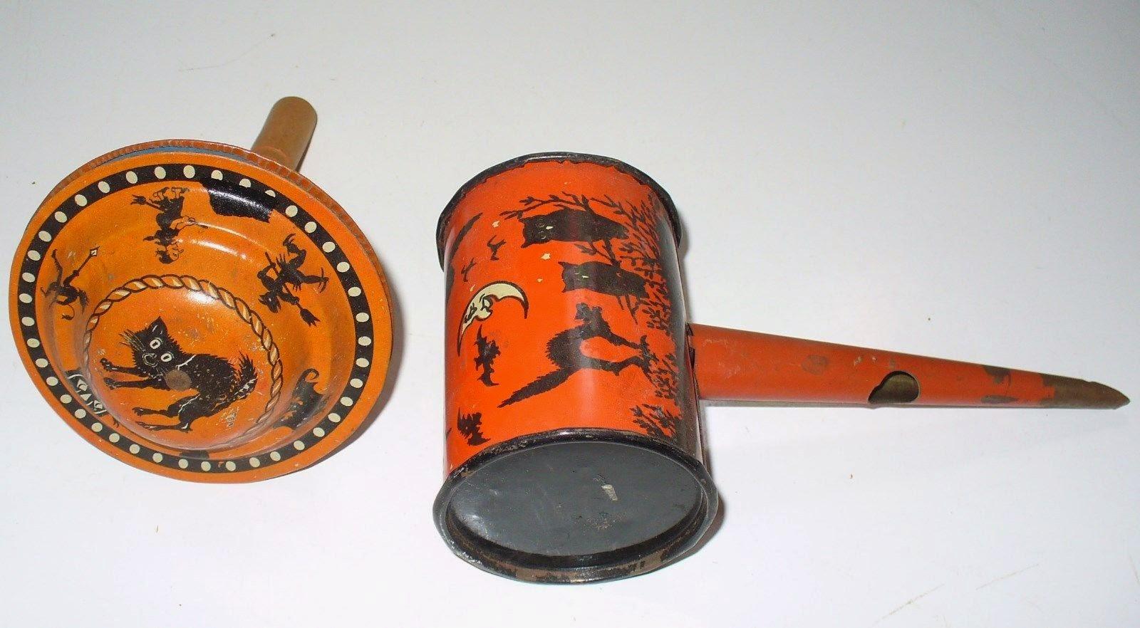 vintage halloween noisemaker metal noisemakers