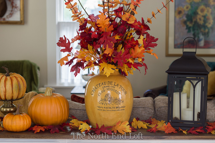 The north end loft living room updates and fall decor for Home goods fall decorations