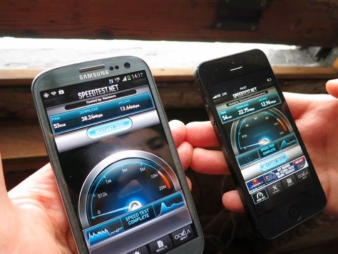 Samsung Galaxy S5  Vs iPhone 5S Speed Test