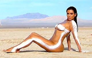 Kim Kardashian Nude body Paint