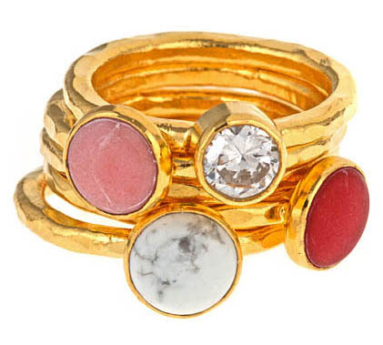 red, love Valentines, stacking rings, gemstones
