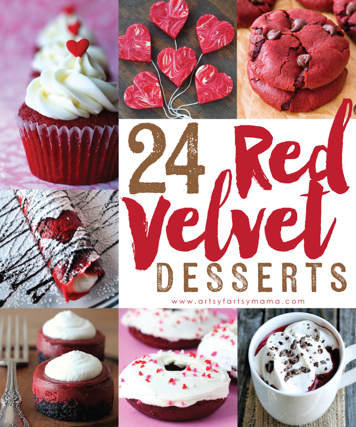24 Red Velvet Dessert Recipes at artsyfartsymama.com