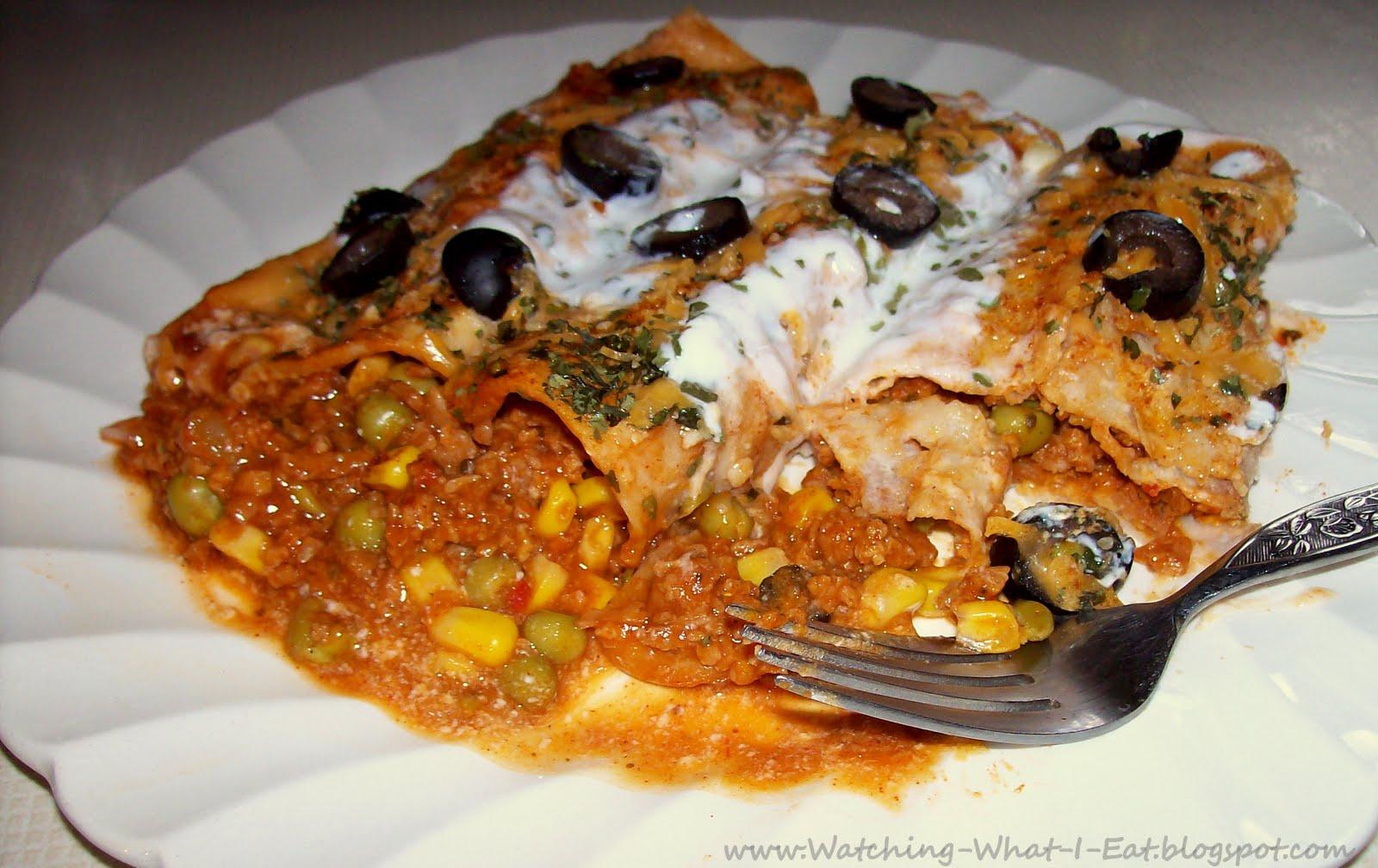 Vegetarian Enchiladas with TVP