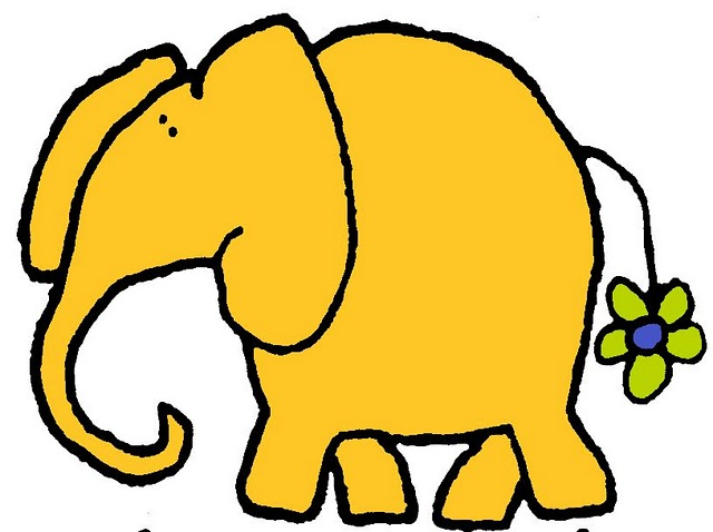 Imagen De Elefante Para Imprimir Dibujos De Caricaturas De Animales
