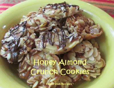 Honey Almond Crunch Cookies Recipe by CookieClubRecipes