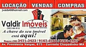 EM CHAPADINHA  E TODA REGIÃO CONTE COM VALDIR IMÓVEIS