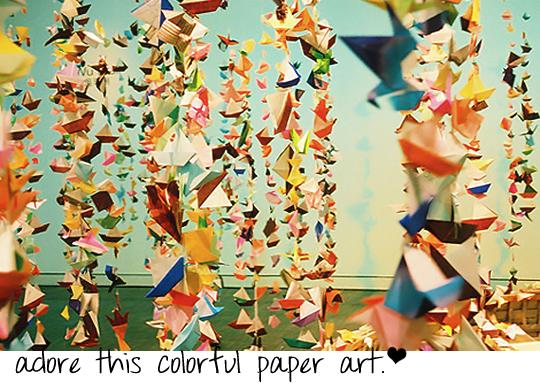 paper art party decor