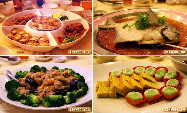 brocolli pastry glutinous rice, steam fish, cold and hot platter