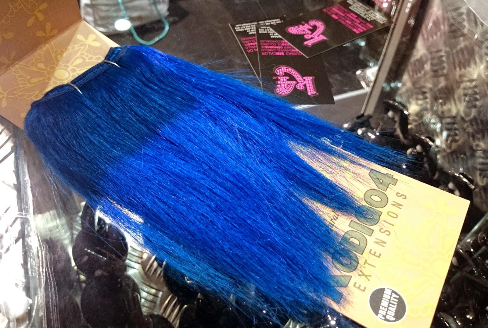 extensiones azules pelo natural