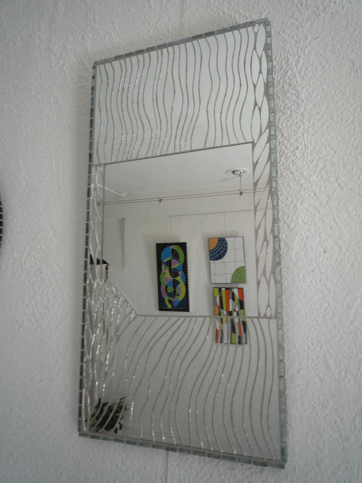 Decoration mosaique carrelage for Miroir vague