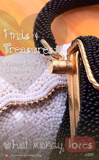 Finds & Treasures: Vintage Beaded Clutches via www.whatmandyloves.com