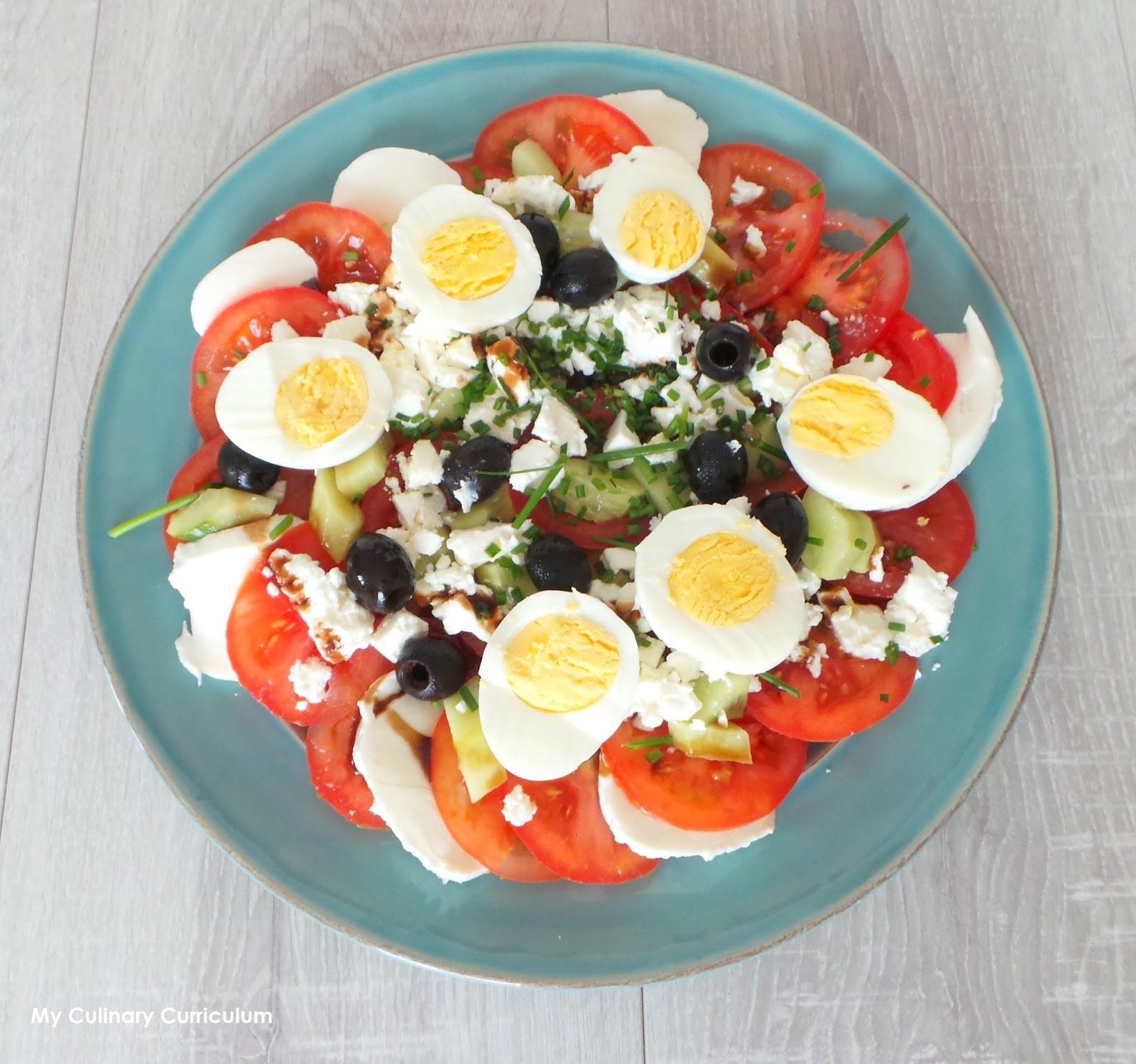 Salade compose simple good recette de cuisine salade pimontaise with salade compose simple - Salade de tomates simple ...
