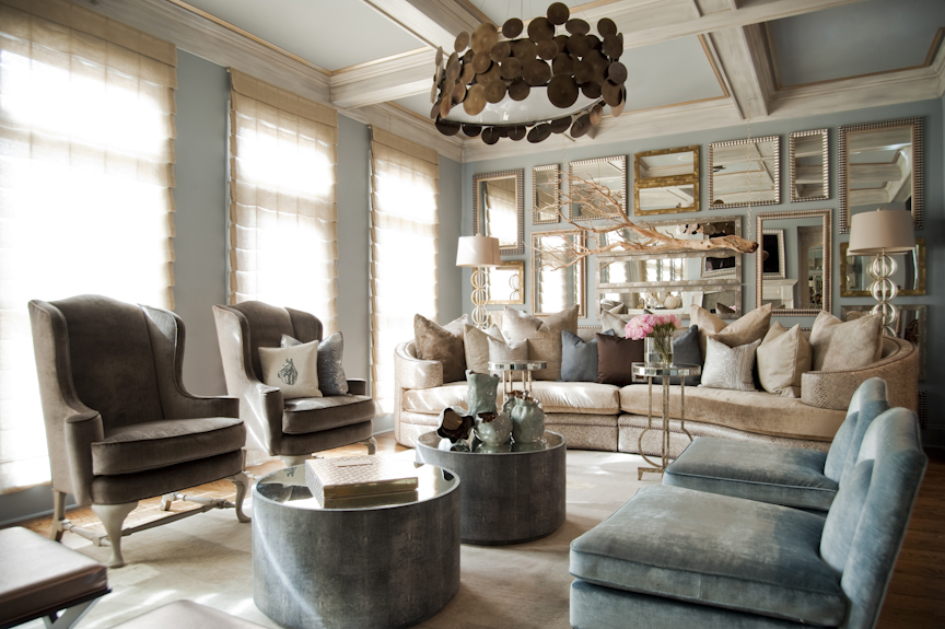 Michel boyd and marlo hampton defining personal style at home for Living room atlanta