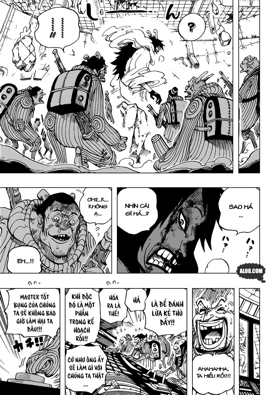 One Piece Chapter 691: Vị vua của vùng đất chết 011