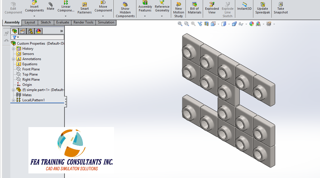 solidworks part for bill of material