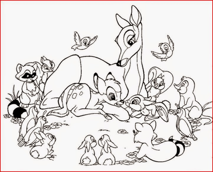 Disney Coloring Pages Coloringfilminspector Bambi