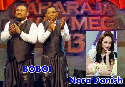 Nora Danish tersinggung sindiran Boboi | Maharaja Lawak Mega 2013, boboi sindir juri maharaja lawak mega 2013