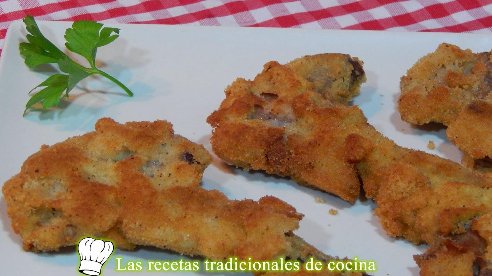 Chuletas de cordero empanadas con bechamel
