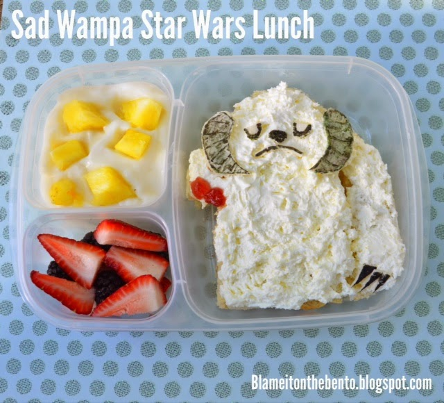 Star wars day may the fourth Sad Wampa Bento Lunch
