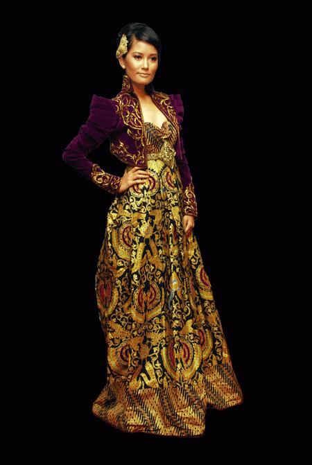 Desain Kebaya Modern Dengan Batik