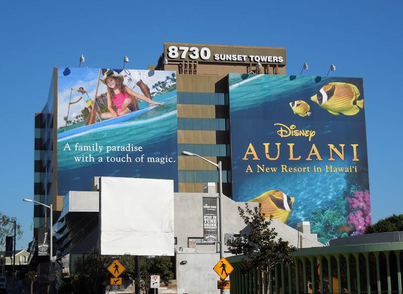 Disney Aulani Hawaii billboard