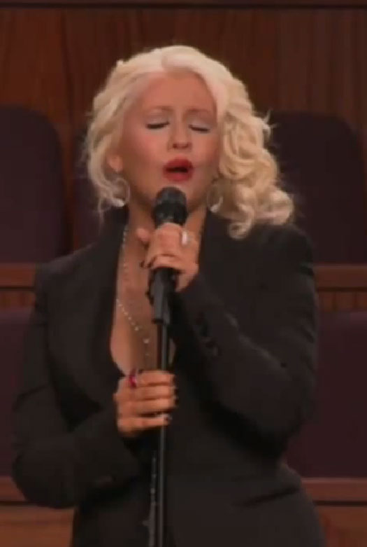 "Diva Devotee: Christina Aguilera Sings ""At Last"" At Etta ... Christina Aguilera Obituary"