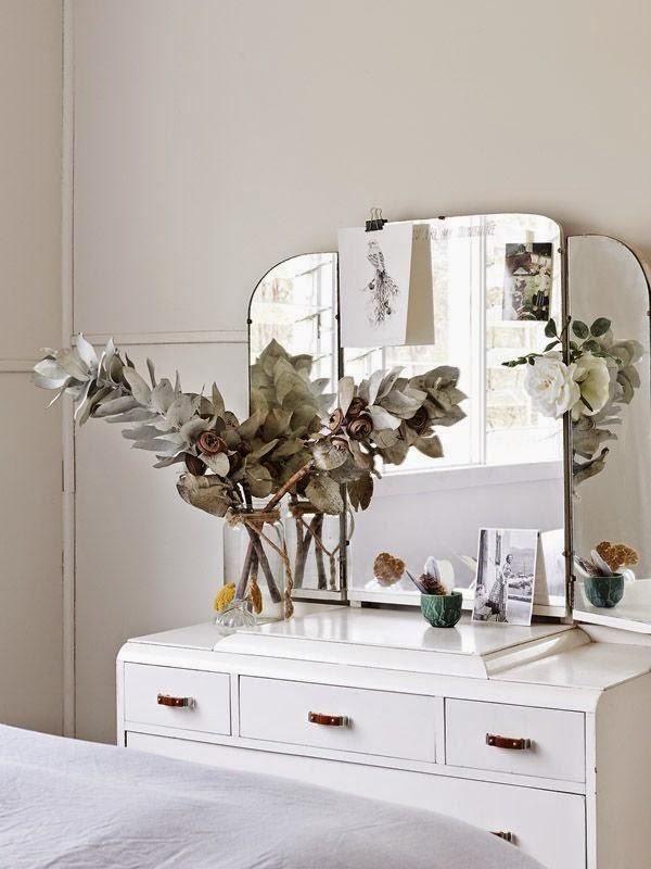 Espejo tocador romantico antiguo vintage