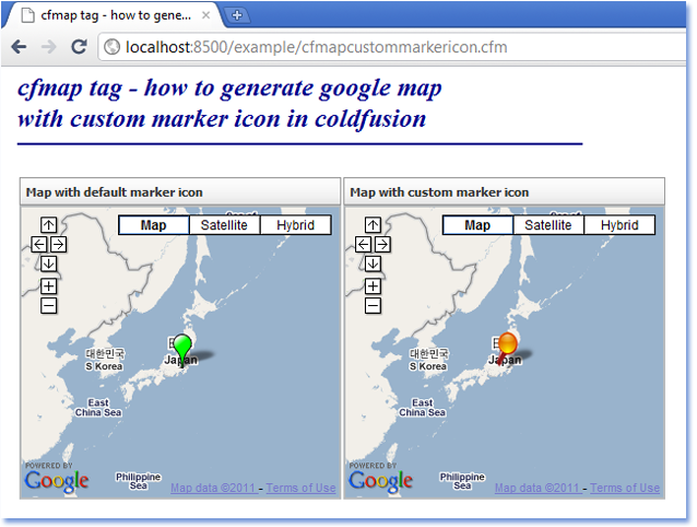 Custom Google Maps Icons. your own google map api
