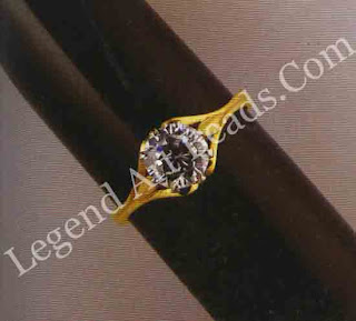 Colorless cubic zirconia, 2.30 ct., set in a ring.