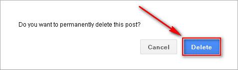 Google+ Confirm Delete