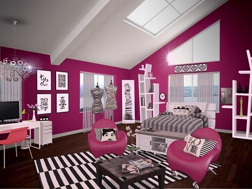 Dormitorios juveniles en color fucsia ideas para decorar - Colores dormitorio juvenil ...