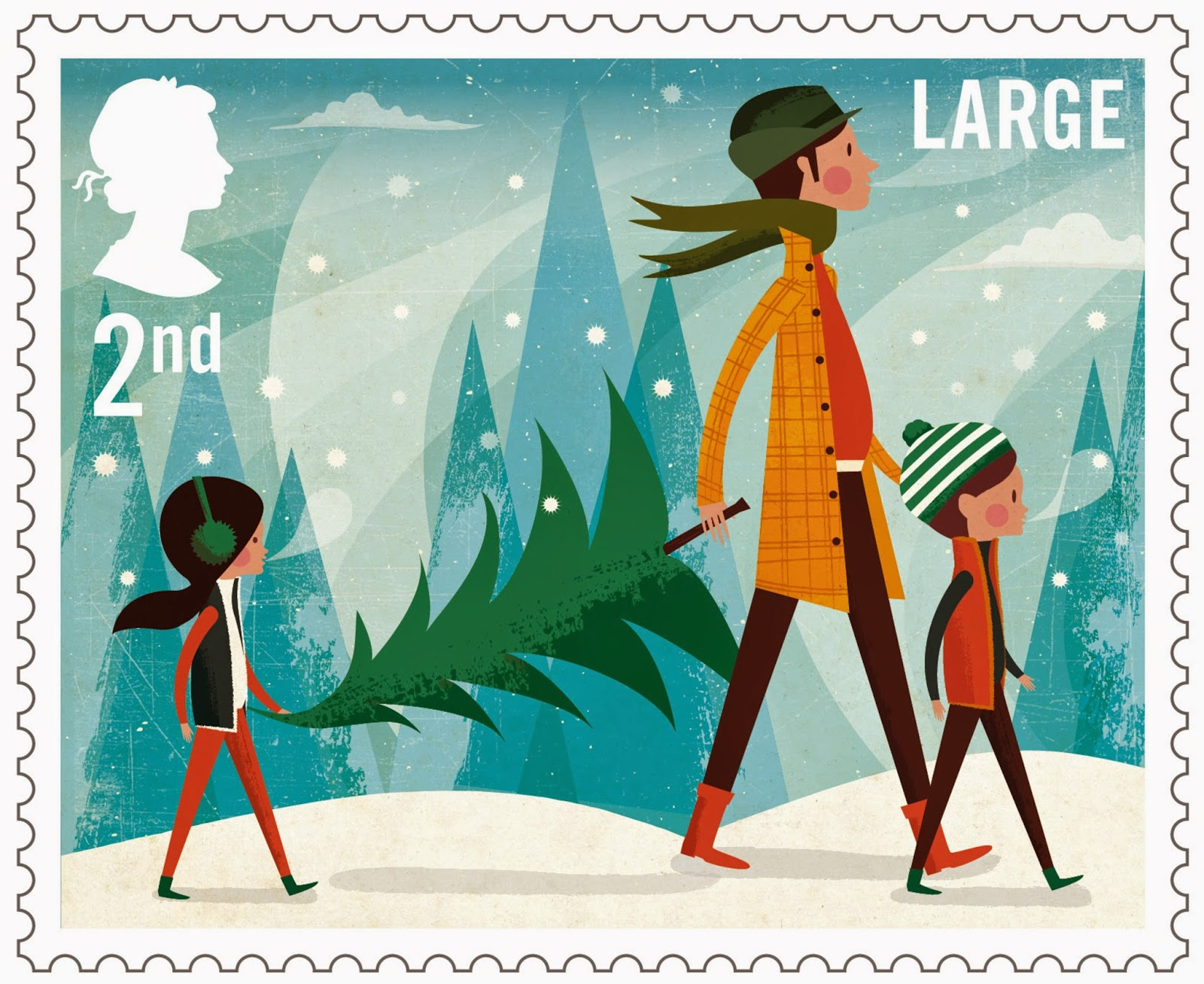 UK Christmas Stamp 2014