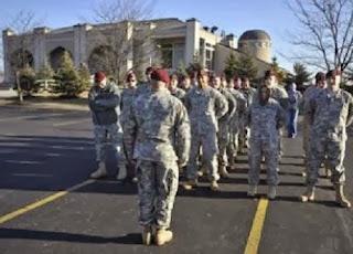 Tentara AS di dekat masjid Ohio (foto onIslam)
