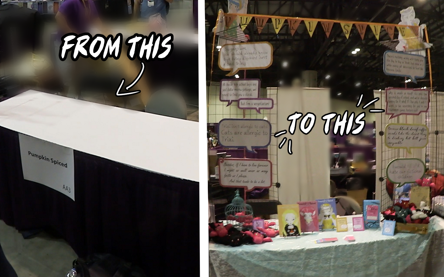 Paige Lavoie: Artist Alley Displays & Setting up our table at ...