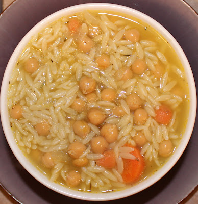 Vegan Lemon Chickpea Orzo Soup