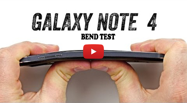Watch Samsung Galaxy Note 4 Bent Test
