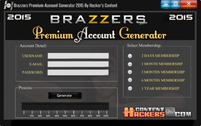 Brazzers account creator