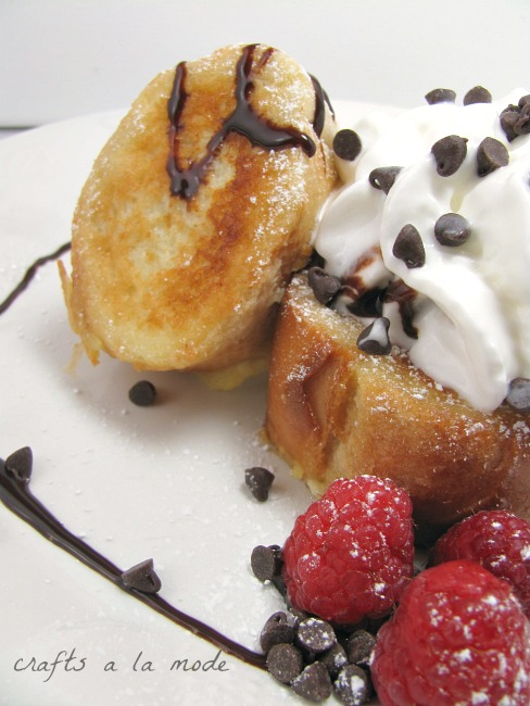 How to make a yummy dessert with French toast.