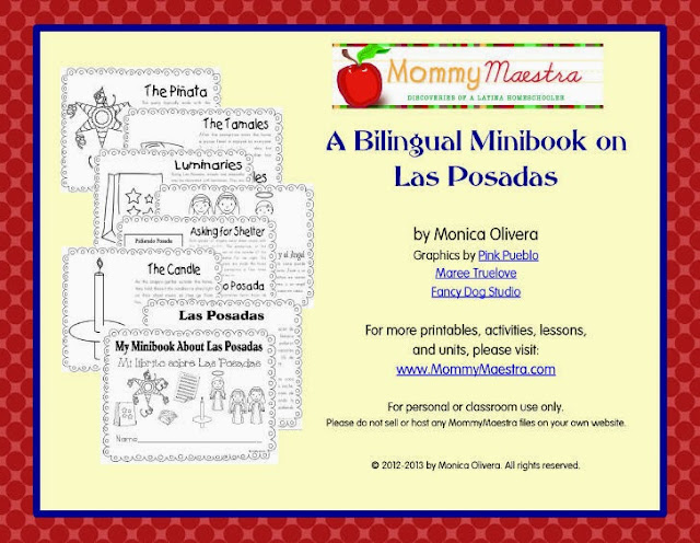 printable minibook on Las Posadas